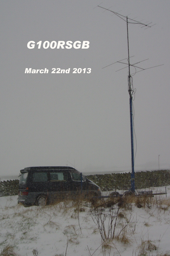 144MHz and 70MHz radio van and mast